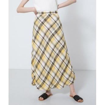 SENSE OF PLACE(センスオブプレイス) スカート スカート チェックセミフレアスカート