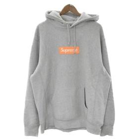 SUPREME(シュプリーム)17AW Box Logo Hooded Sweatshirt ボックスロゴプルオーバーパーカー グレー