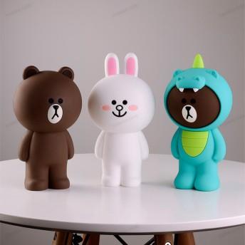 ペンケース 韓国ファッション Line Friends ラインフレンズ ブラウン コニー ズスタンディングポーチ ペンケース 柔らかい シリコン