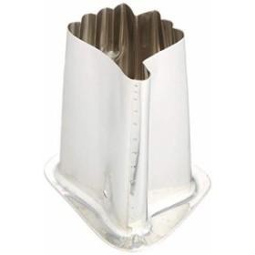 遠藤商事 業務用 ツバ付抜型 中 銀杏 18-8ステンレス 真鍮板 日本製 BNK19092