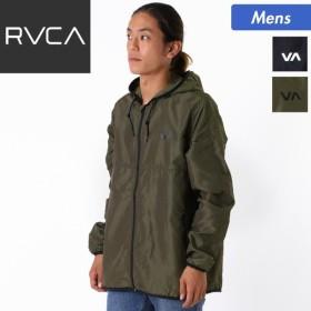 RVCA/ルーカ メンズ 長袖 軽量ジャケット 防水 撥水 ロゴ入り フード付き ジップアップ スポーツ AI042-751