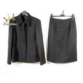 ダックス DAKS スカートスーツ サイズ42 XL レディース 新品同様 黒 肩パッド 新着 20190524