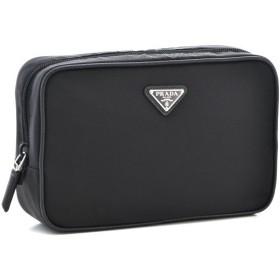 プラダ/PRADA バッグ メンズ テスートサフィアーノ ポーチ ブラック  2NA006-064-002