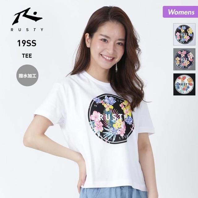 RUSTY/ラスティ レディース 半袖 Tシャツ ティーシャツ 表撥水加工 ロゴ 939502