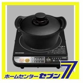 アイリスオーヤマ 無加水鍋付きIH調理器 ブラック DRC-18 送料無料