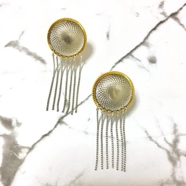 Vintage Remake Chain Tassel Earrings