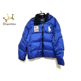 ポロラルフローレン ダウンジャケット サイズL メンズ ビッグポニー ブルー×黒 冬物 新着 20190525
