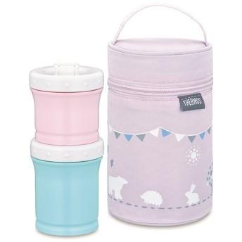サーモス 保冷ポーチ付き離乳食ケース/NPE-240 ピンク(P) ランチボックス/お弁当箱/離乳食保存容器