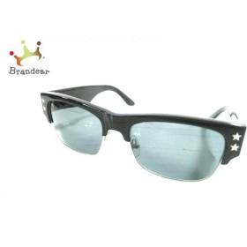 ブラックフライズ BLACK FLYS サングラス 黒×シルバー スター プラスチック   スペシャル特価 20190829