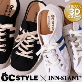 INN-STANT/インスタント メンズ&レディース キャンバス シューズ スニーカー 靴 くつ ナチュラル系 人気 おしゃれ OCIN001