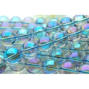 ブルーオーラ水晶 16mm 1連(約38cm)_R312/A6-4