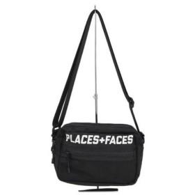 PLACES+FACES(プレイシズ プラス フェイシズ)Shoulder bag ロゴ プリント ショルダー バッグ ブラック