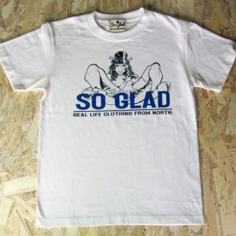 So Glad Girl TEE Logo Blue
