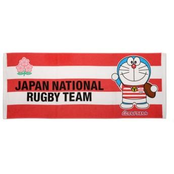 ラグビー 日本代表 2019 バラエティグッズ ラグビー日本代表 ドラえもん コラボ フェイスタオル 4589467484388