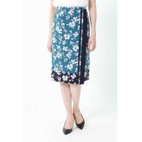 NATURAL BEAUTY / ナチュラルビューティー ◆[ウォッシャブル]スカーフエッジフラワースカート