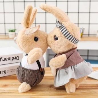 イギリス風 うさぎぬいぐるみ 特大 Mr.rabbit Miss rabbit 可愛い 誕生日プレゼント 新婚お祝い ギフト インテリア82cm