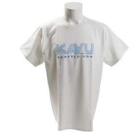 カブー(KAVU) ステッチロゴTシャツ Wh Lサイズ 19820625010007 (Men's)
