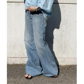 AP STUDIO R13 Wide Leg Jean サックスブルー フリー