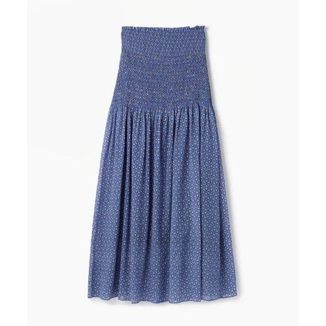 TOMORROWLAND / トゥモローランド キュプラコットンプリント フレアロングスカート