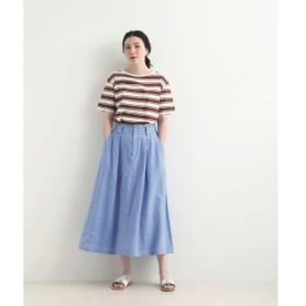 NIMES / ニーム LINEN ワイドフレアースカート