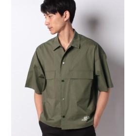 【40%OFF】 ウィゴー WEGO/クロップド5分袖ワークシャツ メンズ カーキ M 【WEGO】 【タイムセール開催中】