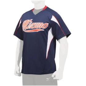 MIZUNO ミズノ ジュニア・イージーシャツ・V首 ユニフォーム 野球 ネイビー×ホワイト 12JC7Q5014