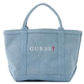 ゲス GUESS SMALL DENIM TOTE BAG【JAPAN EXCLUSIVE ITEM】 (LIGHT BLUE)