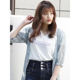 [dazzlin]AmiteVネックBIGTシャツ