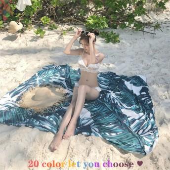 新色追加! 韓国ファッション INS熱い販売 超高品質 ビーチタオル ビーチマット タペストリー 背景防水シート 装飾布 屋外用サンショール 速乾性 人気 旅行お 出かけ 海辺