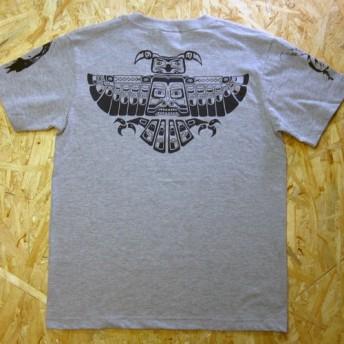 Eagle Falcon Inca Tribal TEE Gray