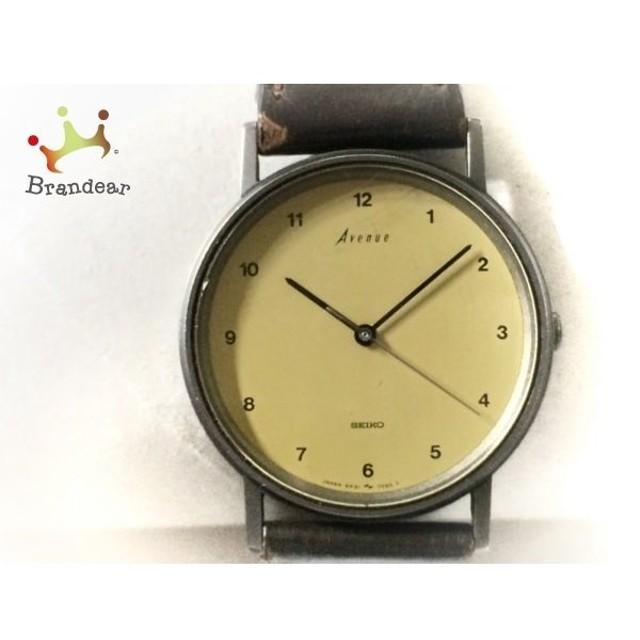 dc2119c016 セイコー SEIKO 腕時計 アベニュー 5P31-7020 ボーイズ 社外ベルト イエローベージュ 新着 20190525