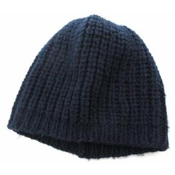 【中古】ジュンヤワタナベマン JUNYA WATANABE MAN ニット帽 ワッチ ビーニー 帽子 キャップ 紺 ネイビー 0515 メンズ