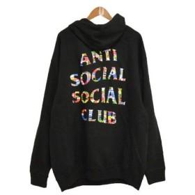 ANTI SOCIAL SOCIAL CLUB(アンチソーシャルソーシャルクラブ)18AW Flag Black Hoodie ロゴプリントプルオーバーパーカー