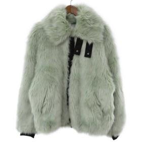 AMBUSH(アンブッシュ)18AW ×NIKE Reversible Faux Fur Coat ×ナイキ バックスウッシュロゴフェイクファージャケット グリーン