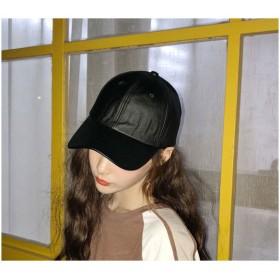 キャップ - VICTORIA レザーキャップ 帽子 レディース キャップ 男女兼用 ローキャップ 人気 ベーシック おしゃれ カジュアル 黒 ブラック22N17419N