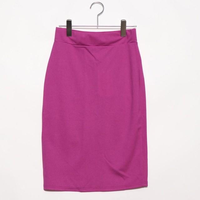 フューティアランド Futier Land バックポケット付きストレッチタイトスカート (パープル)