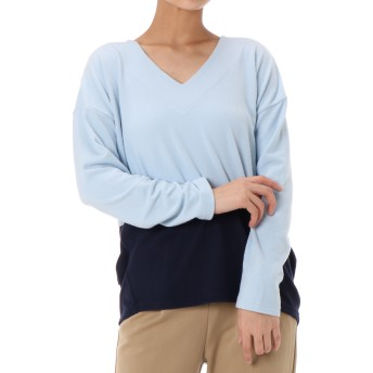 カットソー - AZUL BY MOUSSY BICOLOR V NECK TOPS