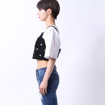 ビスチェ - GUESS【WOMEN】 [GUESS] MICHELLE FLORAL EMBROIDERY CROP TOP