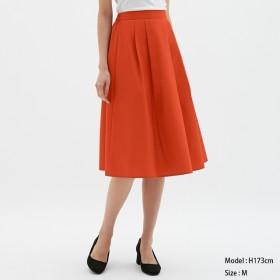 (GU)カラーフレアスカート DARK ORANGE M