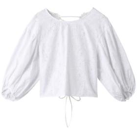 SALE 【50%OFF】 ROSE BUD ローズバッド 刺繍レースブラウス ホワイト