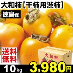 柿 かき 徳島産 大和柿 「干柿用渋柿」 10kg ご家庭用 果物 食品 国華園