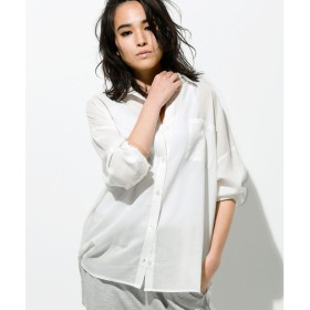 Ranan 襟抜きオーバーサイズシャツブラウス(オフホワイト)