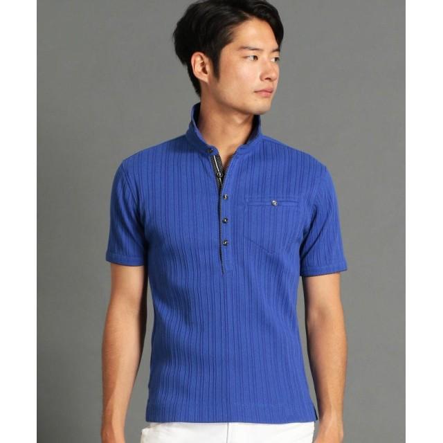 ニコルクラブフォーメン ランダムテレコシルケットポロシャツ メンズ 60ブルー 48(L) 【NICOLE CLUB FOR MEN】