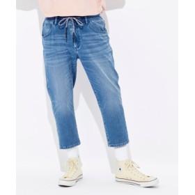 BACK NUMBER 「タテヨコ伸びる」デニムクロップドパンツ メンズ 淡加工色