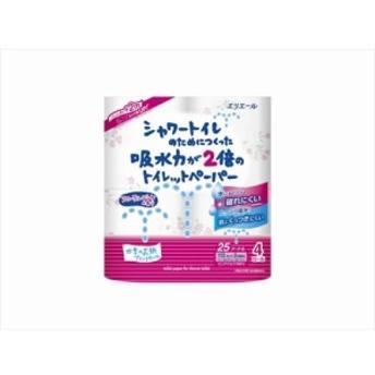 シャワートイレのためにつくった吸水力が2倍のトイレットペーパーフラワープリント香水付 4ロール ダブル