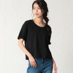 SALE【ラブレス(LOVELESS)】 【LOVELESS】WOMEN はっ水ポケットTシャツ ブラック