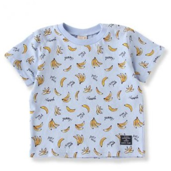 プティマイン/バナナ総柄Tシャツ