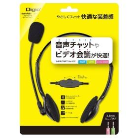MHM-S24BK ヘッドセット ブラック [φ3.5mmミニプラグ /両耳 /ヘッドバンドタイプ]
