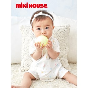 【ANGELIEBE/エンジェリーベ】【日本製】ミキハウス・コンビ肌着 白 50