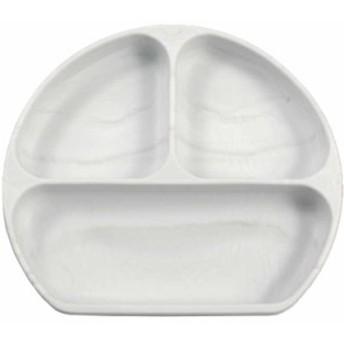 バンキンス シリコン グリップ プレート マーブル 6ヶ月から 出産祝い 食器 bumkins